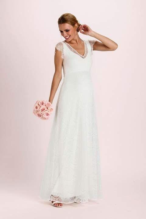 Elegante Lange Brautkleider Für Schwangere Für Deinen