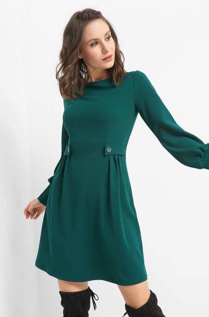 Elegantes A-Linienkleid - Grün | Sommer Kleider, Kleider