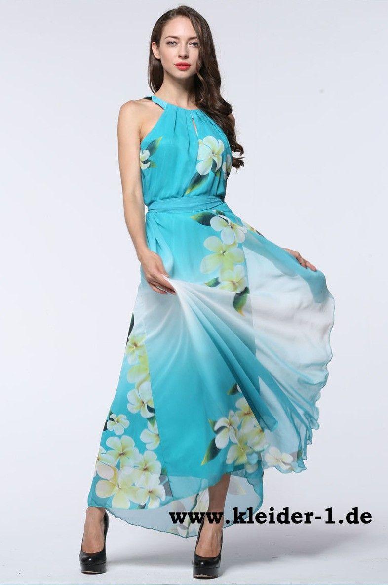 Elegantes Chiffon Sommerkleid  Lange Kleider Sommer