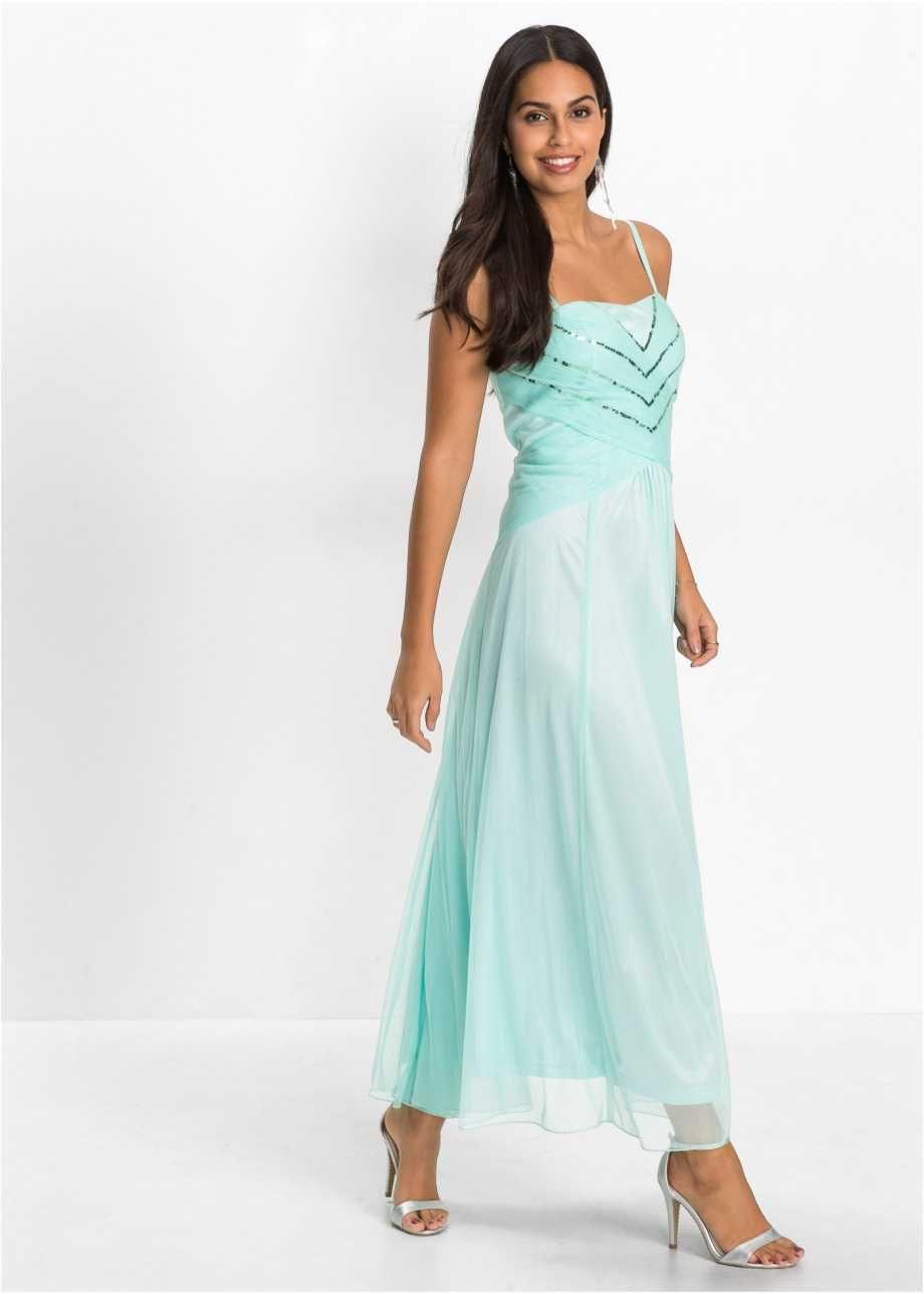Elegantes Kleid Mit Pailletten  Mitternachtsblau