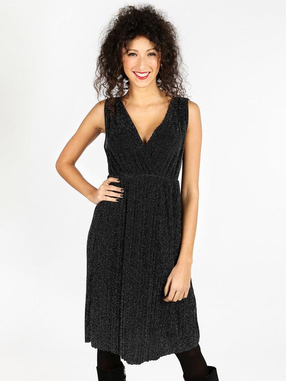 Elegantes Kleid Mit Tiefem Ausschnitt Solada  Mecshopping