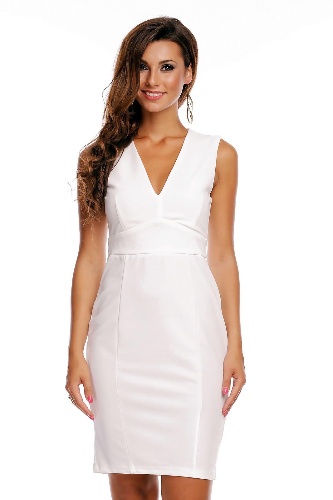 Elegantes Kleid Mit Vausschnitt  Sh Fashion