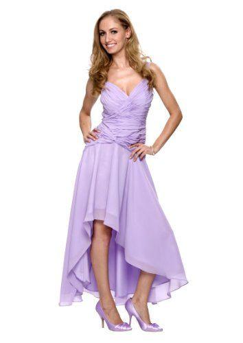 Elegantes Luxus Abend  Cocktail Kleid Farbe Flieder Gr