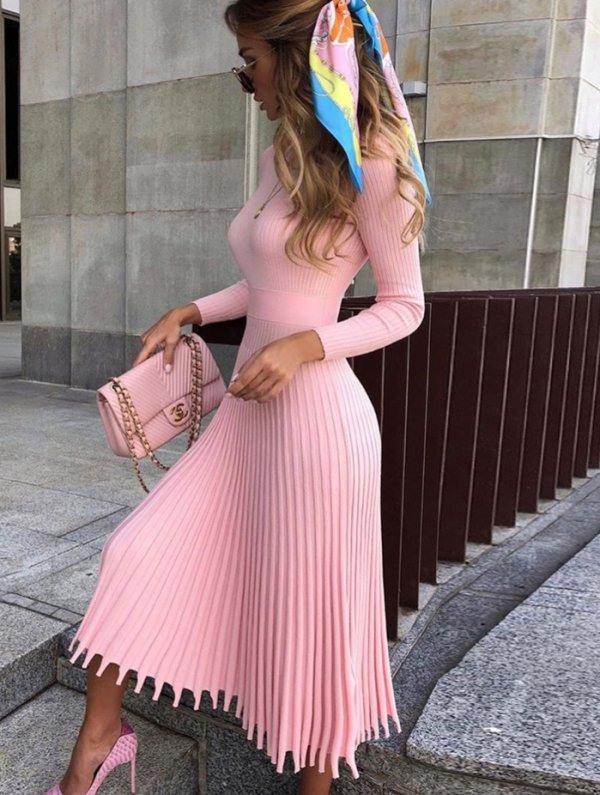 Elegantes Maxikleid Maryana Rosa  Neu