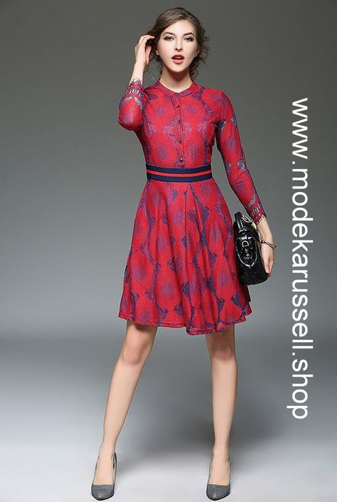 Elegantes Sommerkleid 2019 Babaoia In Rot Mit Bildern