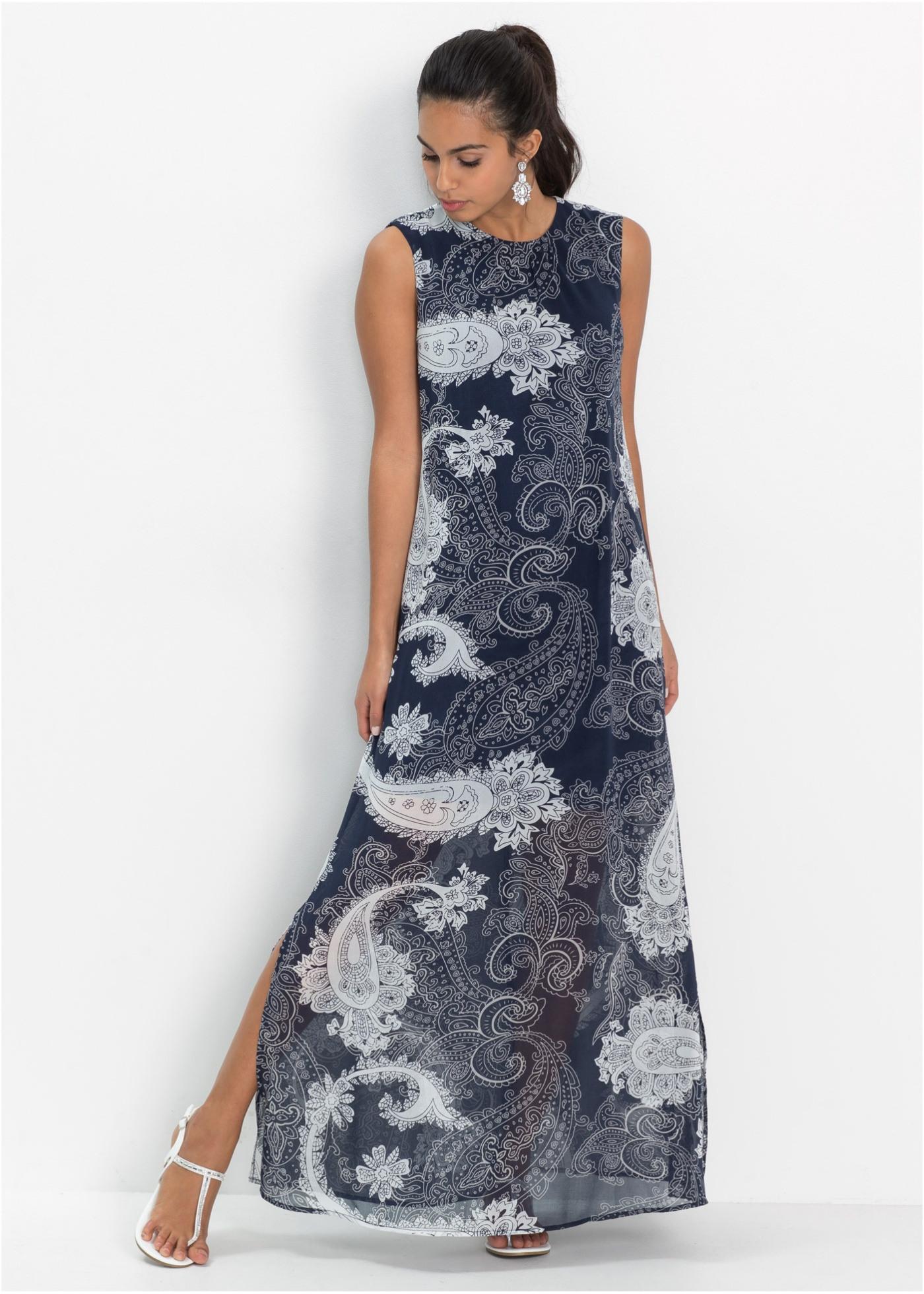 Elegantes Sommerkleid Aus Chiffon Mit Rundhalsausschnitt
