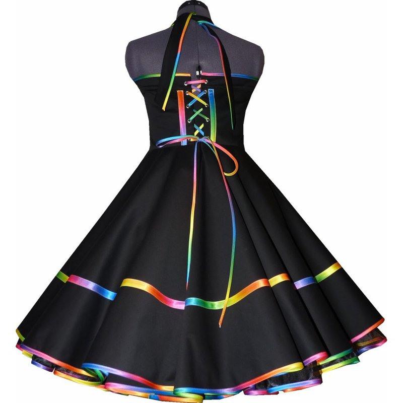 Elegantestanzkleid Kleid Zum Petticoat Regenbogen