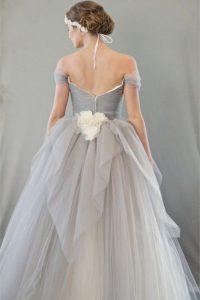 Eleganz Vintage Dove Grey Hochzeit  Schöne Brautkleider