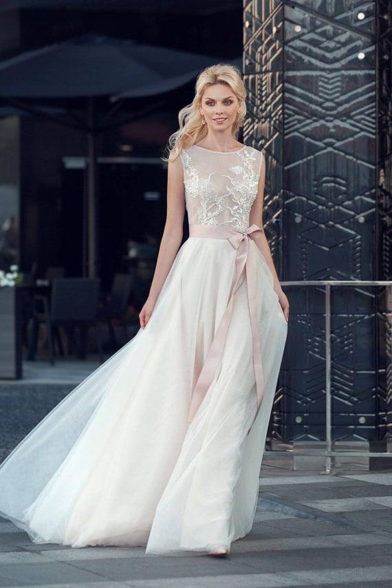 Elfenbeinspitze Hochzeit Kleid Boho Hochzeit Kleid Boho