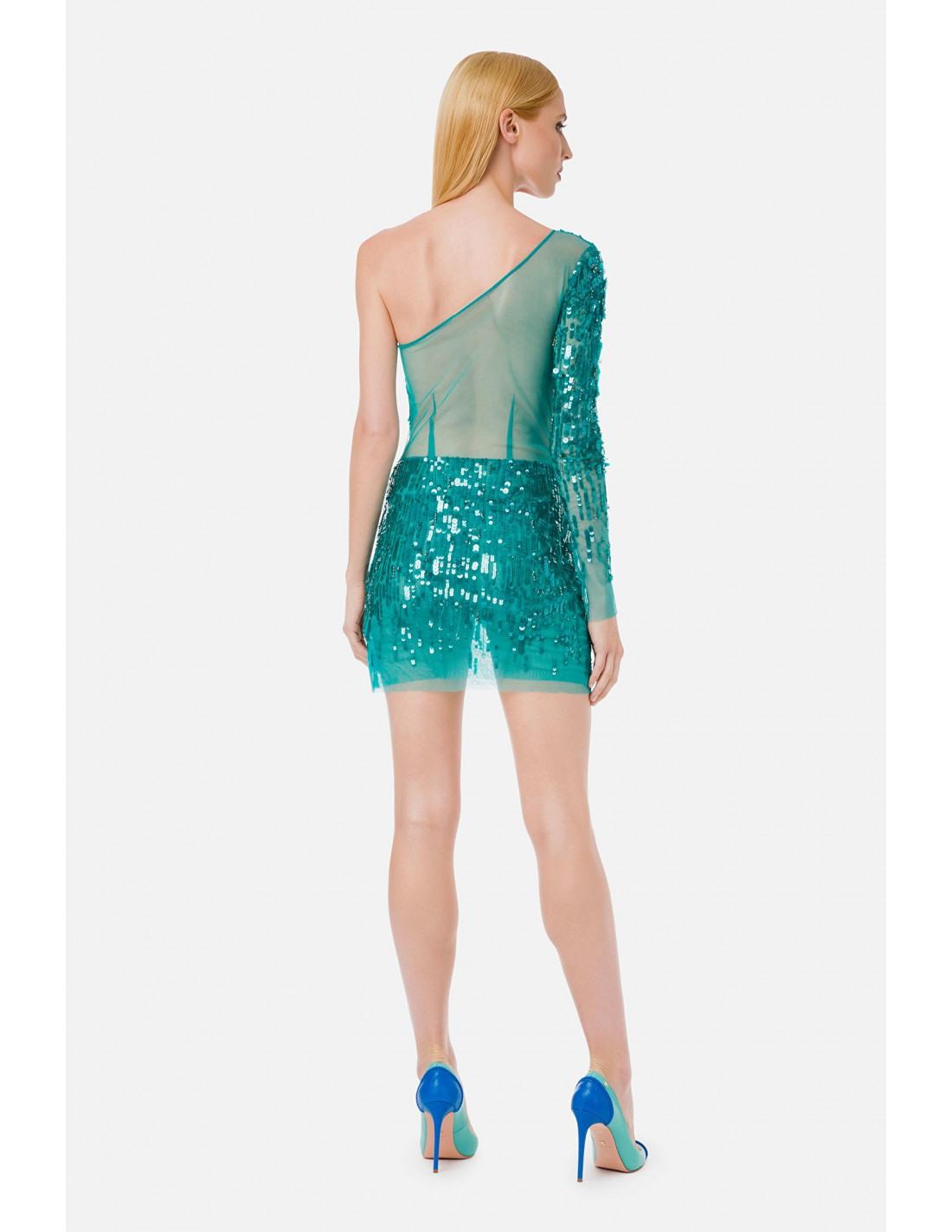 Elisabetta Franchi Einschultriges Kleid Mit Stickerei