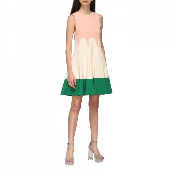 Elisabetta Franchi Tricolor Kleid  Kleid Elisabetta
