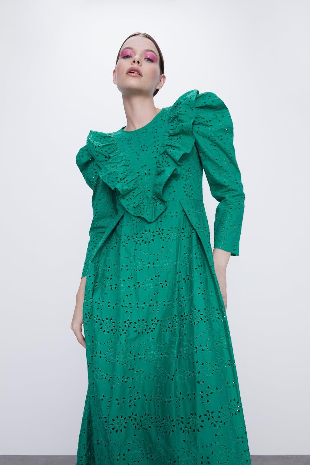 Embroidered Eyelet Dress  Zara United States In 2020