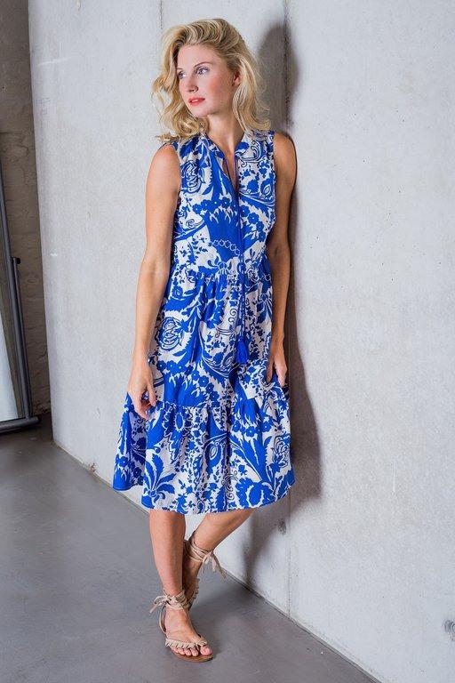 Emily Van Den Bergh Kleid Blauweiß  Dakabukushop