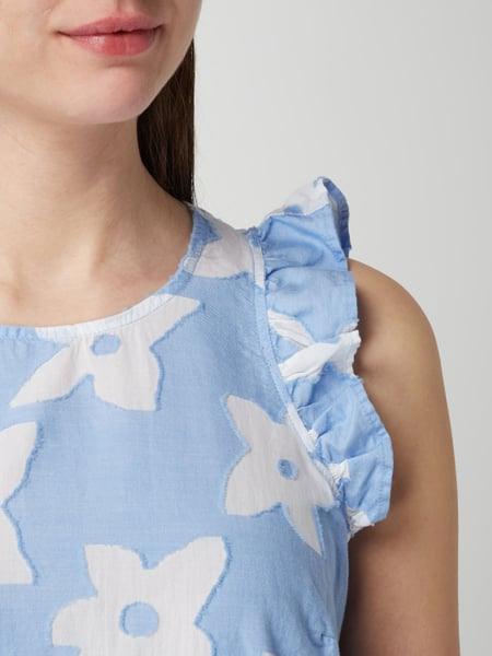 Emily Van Den Bergh Kleid Mit Ausbrennereffekt In Blau