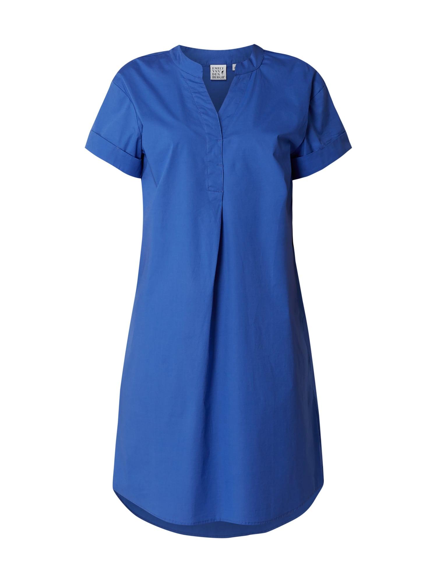 Emily Van Den Bergh Kleid Mit Fixiertem Aufschlag In Blau