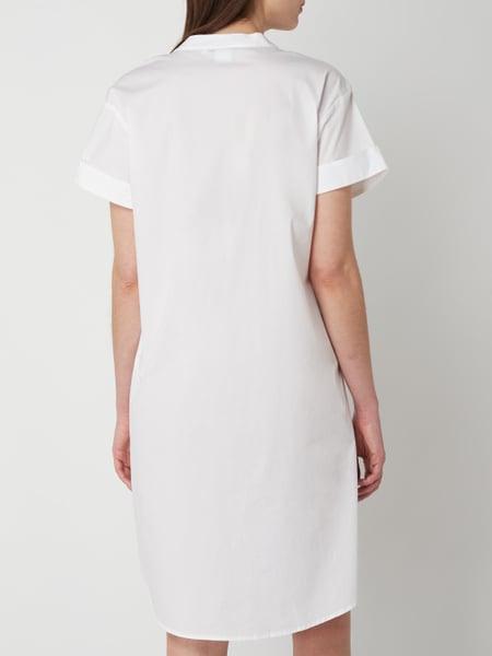 Emily Van Den Bergh Kleid Mit Fixiertem Aufschlag In Weiß