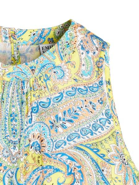 Emily Van Den Bergh Kleid Mit Paisleymuster In Gelb Online