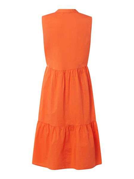 Emily Van Den Bergh Kleid Mit Raffungen In Orange Online