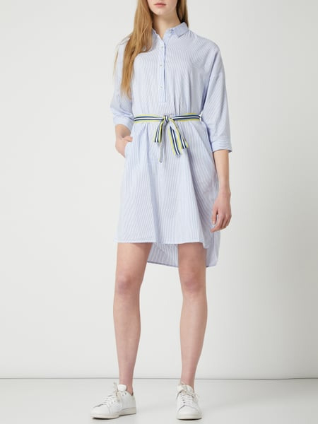 Emily Van Den Bergh Kleid Mit Taillengürtel In Blau