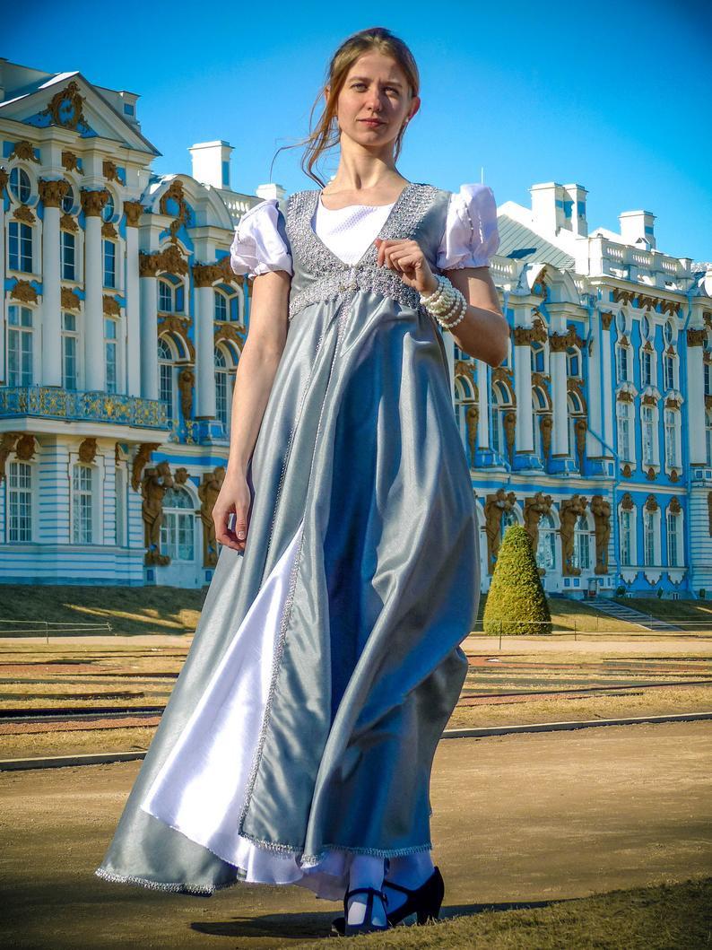 Empire Kleid Regency Kleid Empire Regentschaft Kleid  Etsy