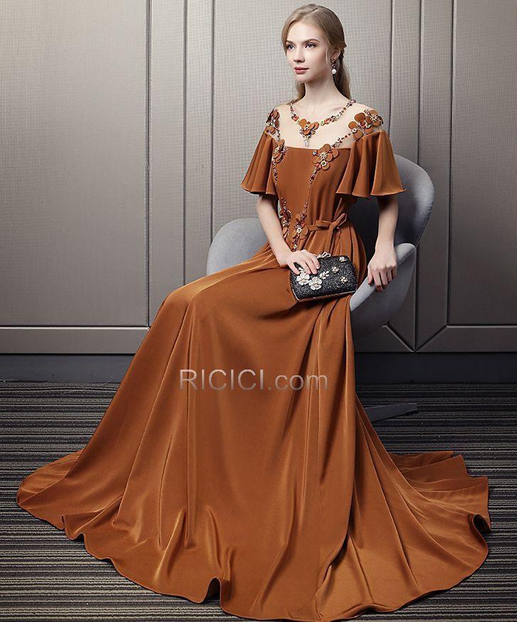 Empire Lange Festliche Kleider Ballkleid Transparentes
