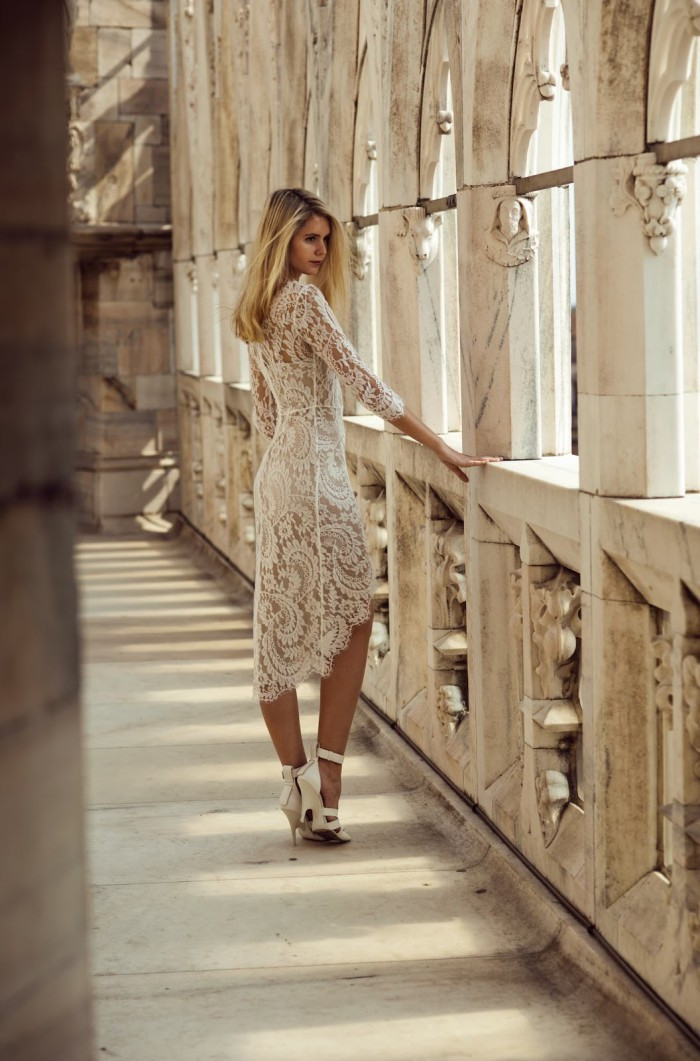 Erstaunliche Weiße Spitzenkleider  Frauen Mode