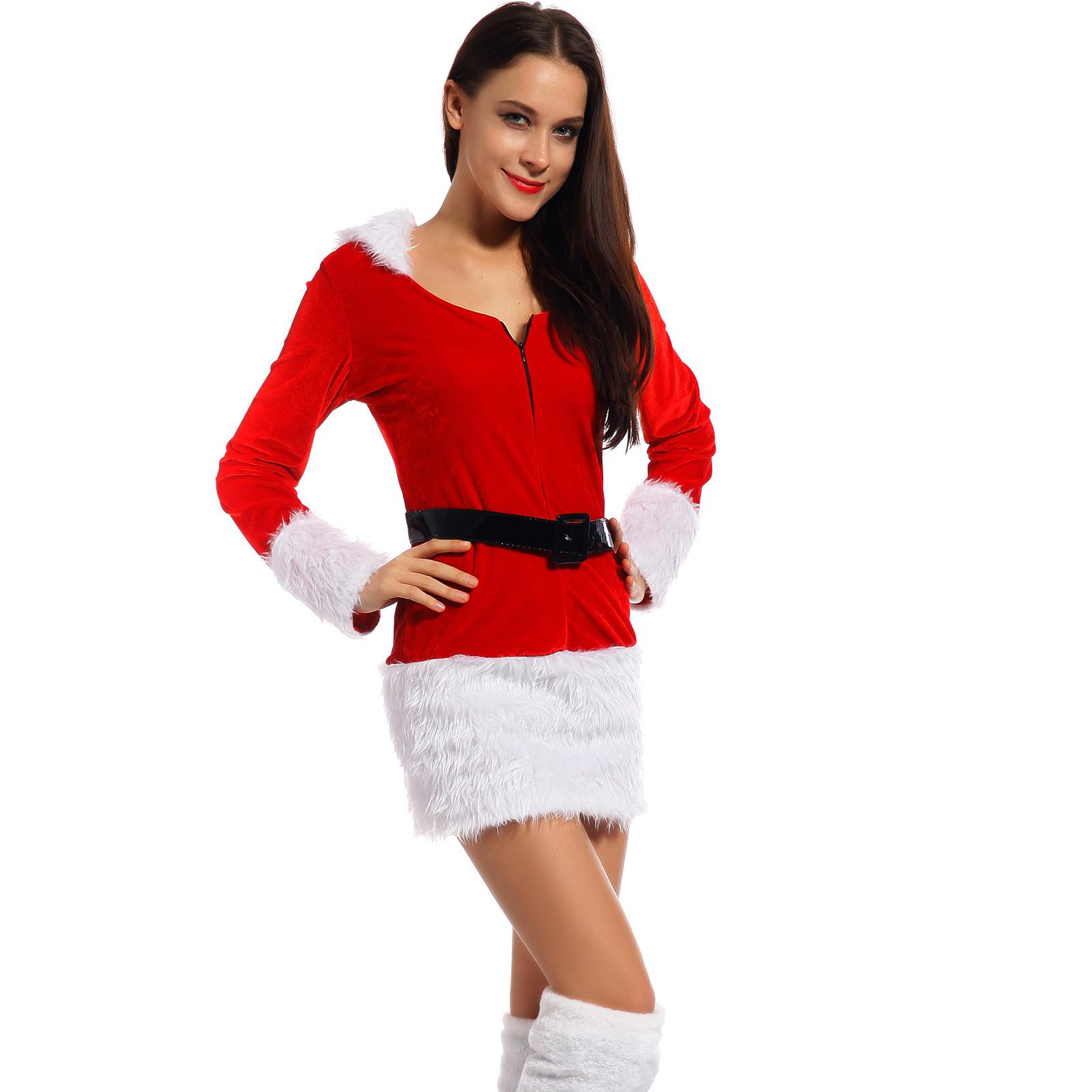 Erwachsene Kostüm Weihnachtsfrau Kleid Weihnachten Kleider
