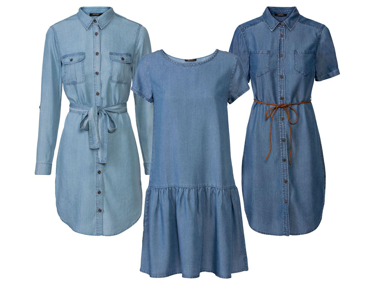 Esmara® Kleid Damen Mit Kellerfalte Am Rücken Aus Reinem