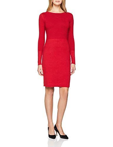 Esprit Collection Damen Kleid 108Eo1E003 Rot Red 630 X