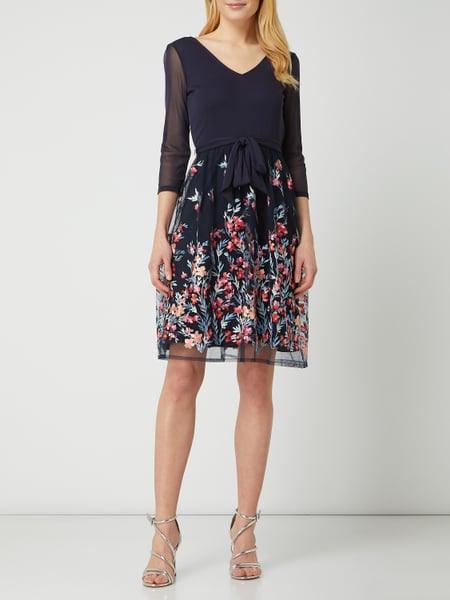 Esprit Collection Kleid Aus Tüll Mit Stickereien In Blau