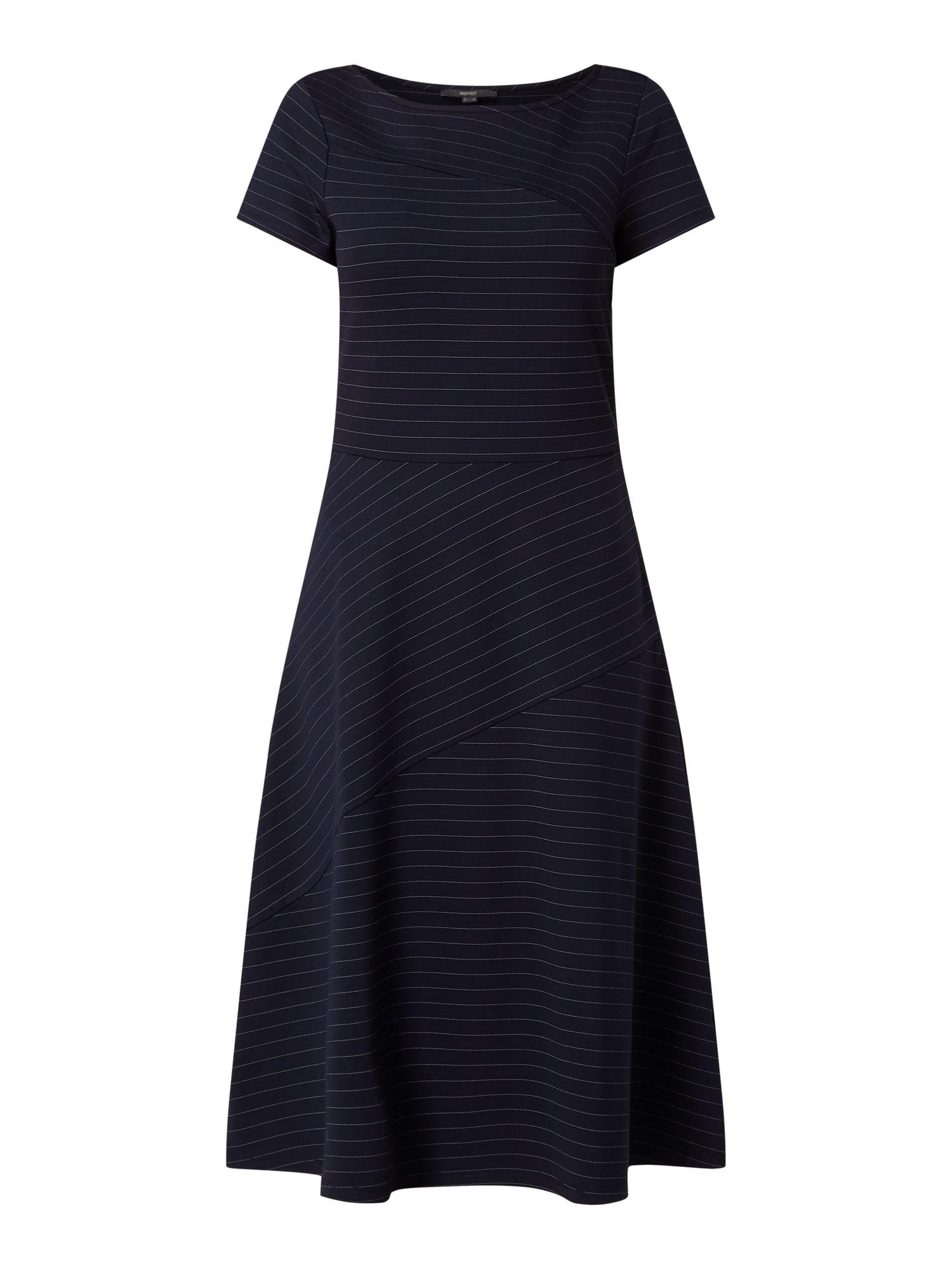 Esprit Collection Kleid Mit Nadelstreifen In Blau / Türkis