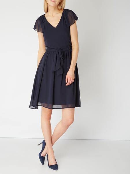 Esprit Collection Kleid Mit Volantbesatz In Blau / Türkis