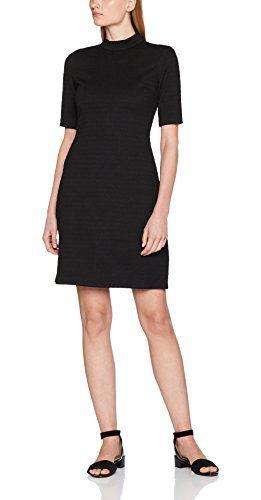 Esprit Damen 097Ee1E014 Kleid Mehrfarbig Black 2 002