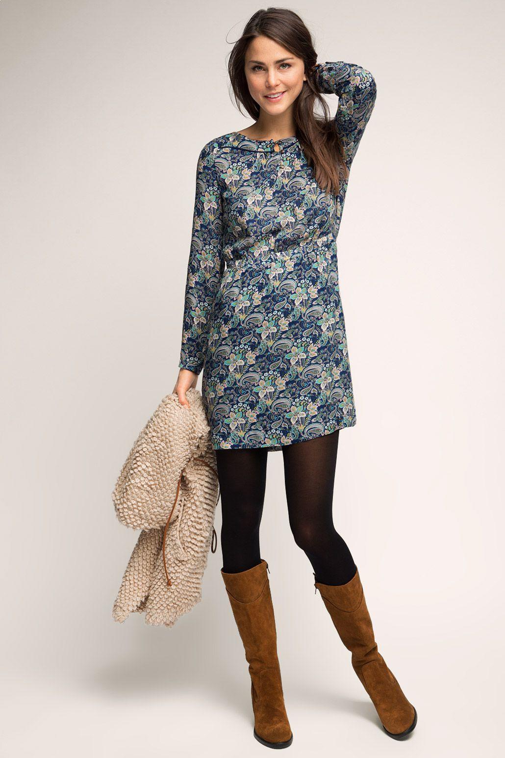 Esprit  Fließendes Kleid Im Paisleylook Im Online Shop