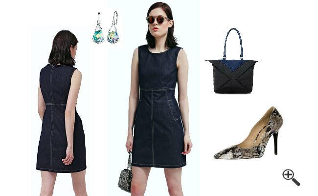 Esprit Jeanskleid Für Damen In Schwarz  3 Jeans Outfit