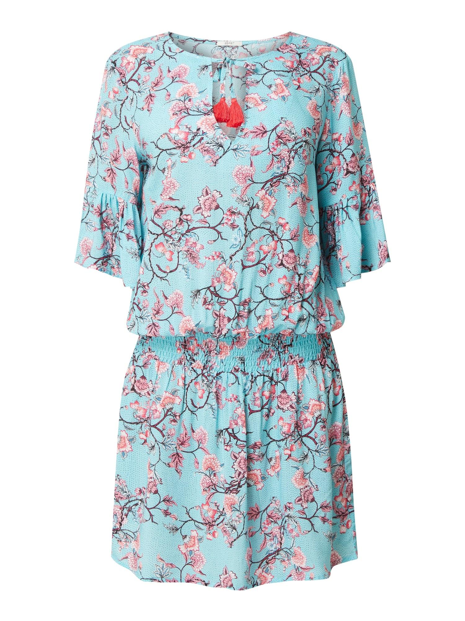 Esprit Kleid Aus Viskose In Blau / Türkis Online Kaufen