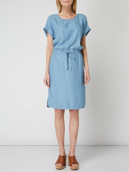 Esprit Kleid In Denimoptik In Blau / Türkis Online Kaufen