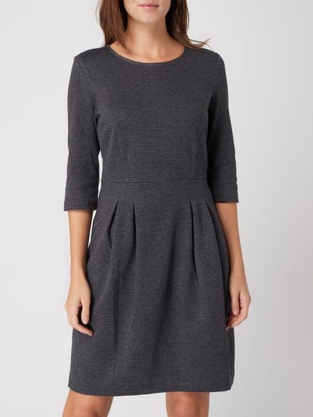 Esprit Kleid Mit Hahnentrittdessin In Grau / Schwarz