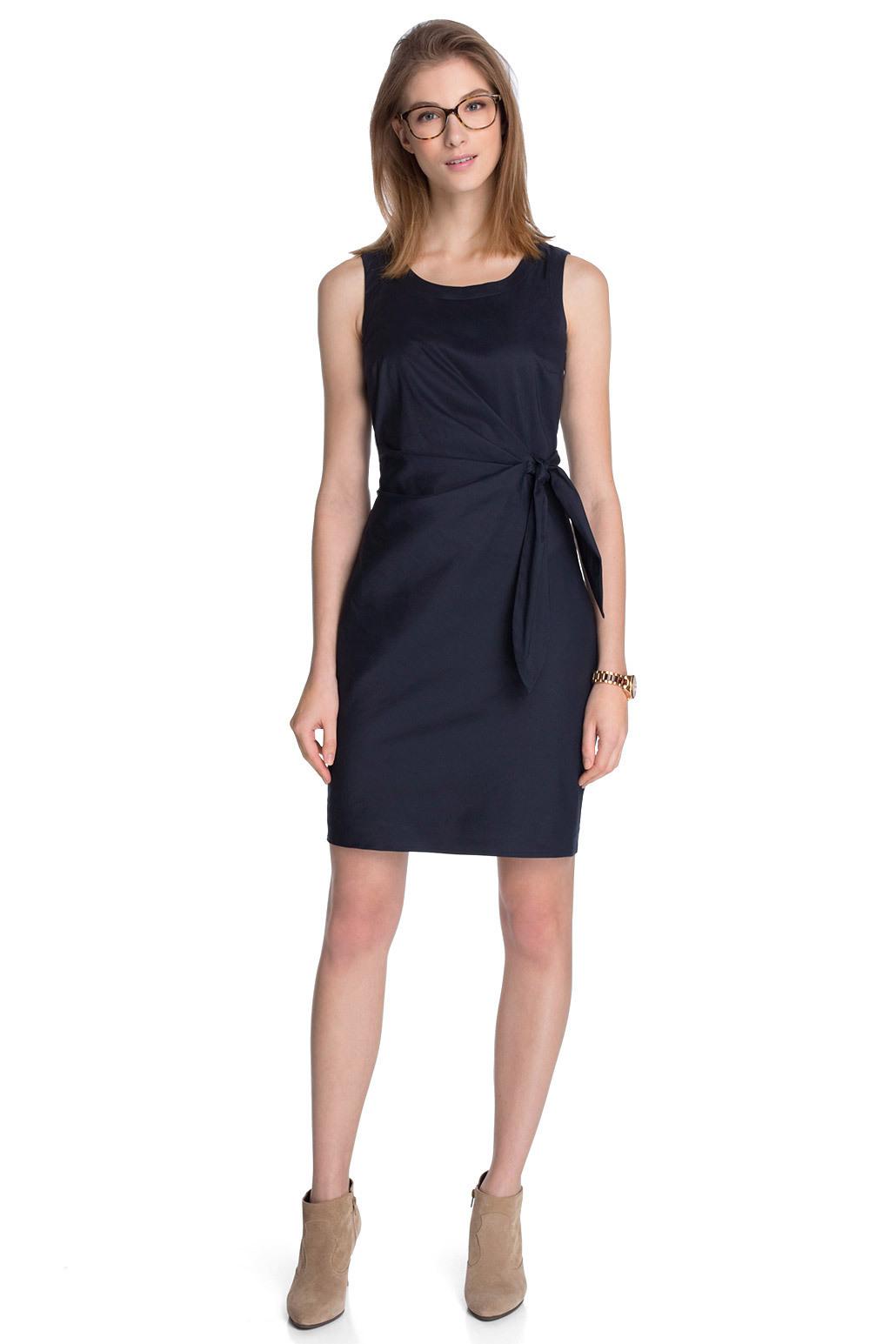 Esprit  Stretch Kleid Mit Knotendetail Im Online Shop Kaufen