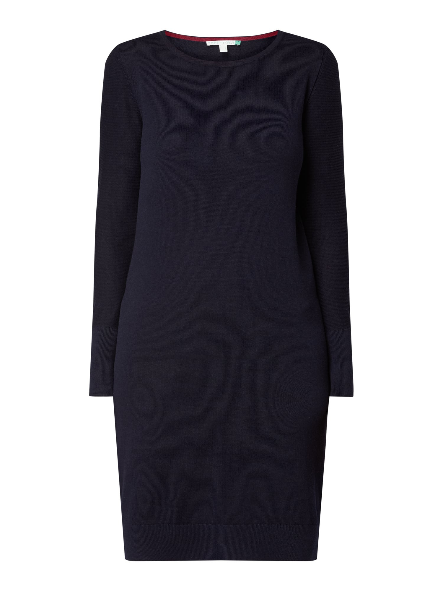 Esprit Strickkleid Mit Rundhalsausschnitt In Blau / Türkis