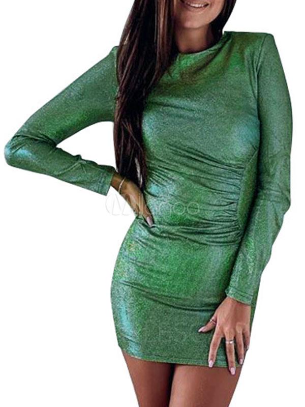 Etuikleid Grün Kleider Gemischten Baumwollen Im Casualen
