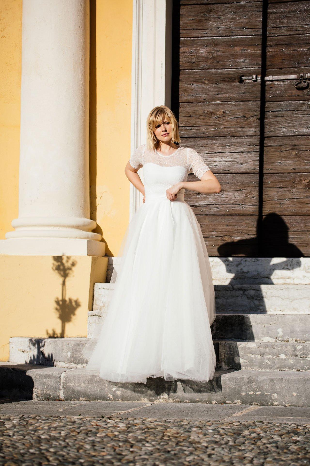 Etuikleid Hochzeit  Schöner Rücken Durch Transparente