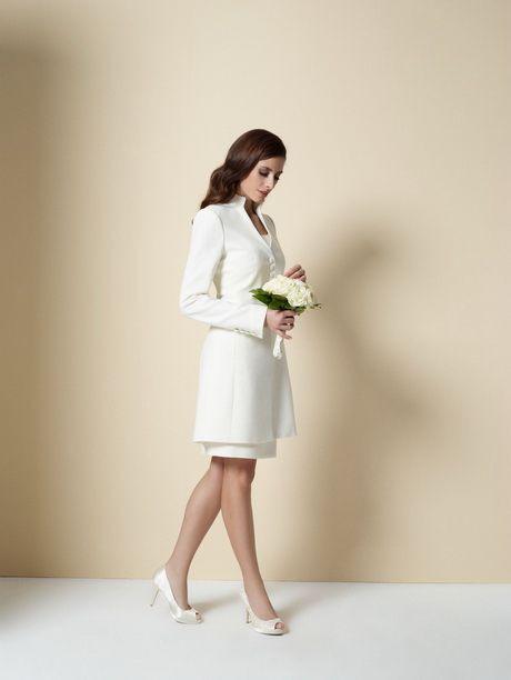 Etuikleider Weiss  Braut Kostüm Weiße Hochzeit