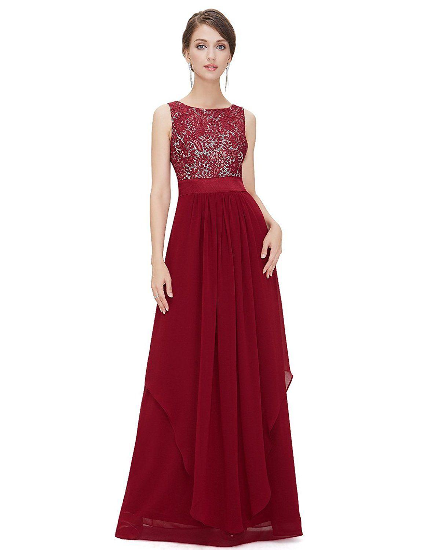 Ever Pretty Damen Chifon Elegant Lang Abendkleider 36