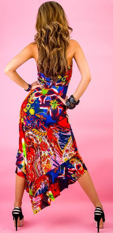 Exclusiv Maxidress S/M Rot Damen Kleid Lang