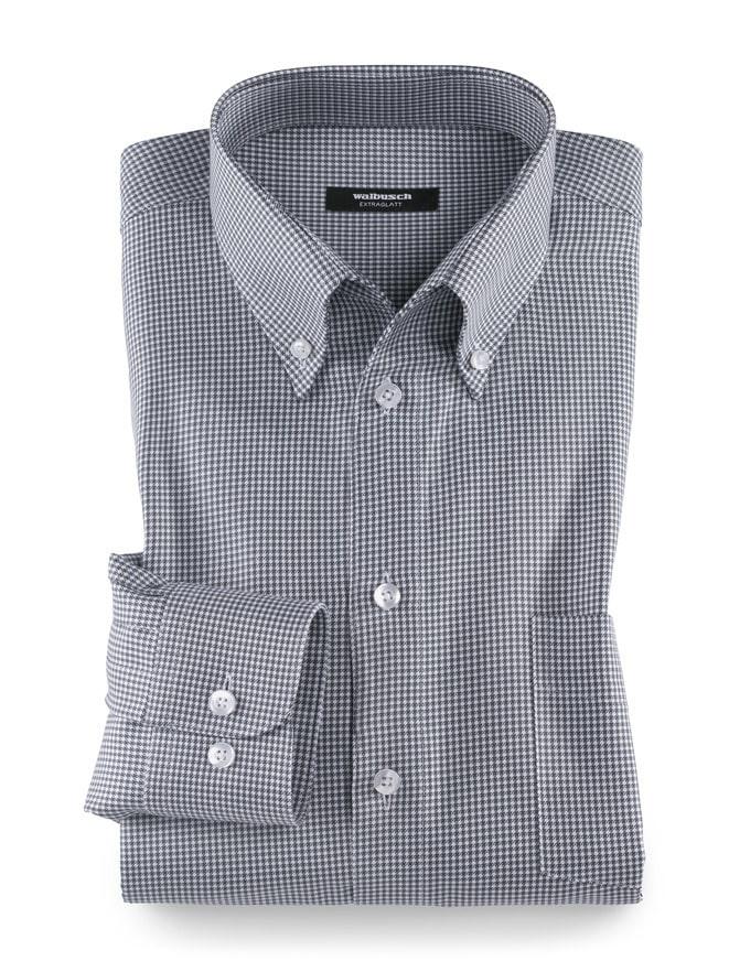 Extraglatthemd Soft Twill  Grau  Walbusch