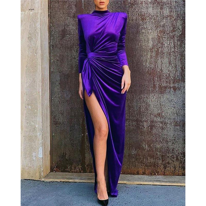 Extrem Sexy Abendkleid Langarm Mit Schulterpolsterund