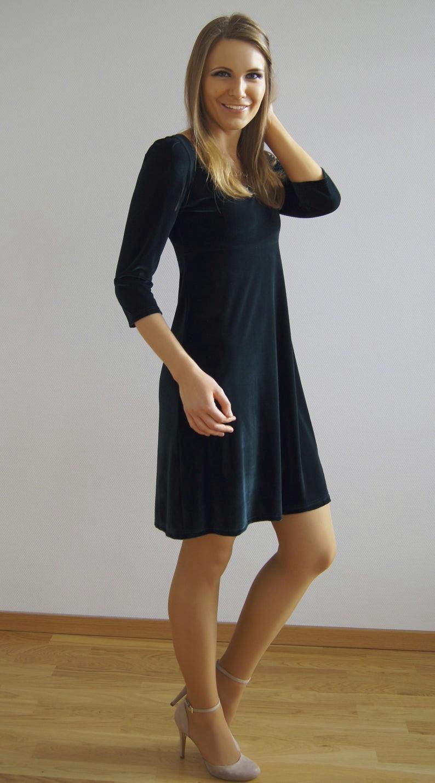 Fairy And Hero's Dress Velvet Dress Ava Green