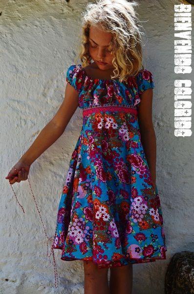 Farbenmix Elodie Bienvenido Colorido  Kinder Kleider