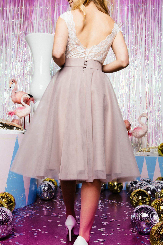 Farbiger Tüllrock Für Die Moderne Braut  Brautmode